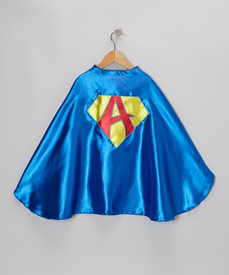 Blue Initial Shield Cape