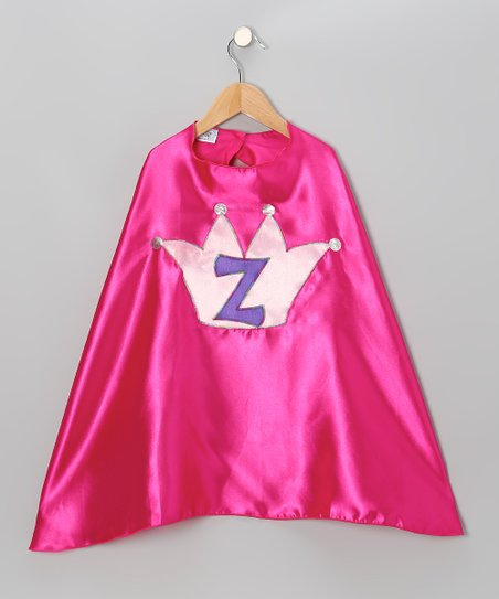 Fuchsia Initial Crown Cape