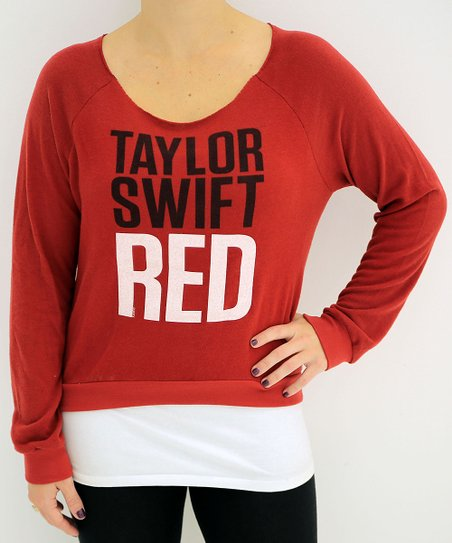 Red 'Taylor Swift' Sweatshirt