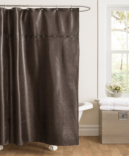 Brown Rylee Shower Curtain