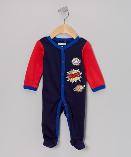 Blue 'Zap! Wow! Splash!' Footie - Infant
