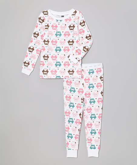 White Owls Pajama Set
