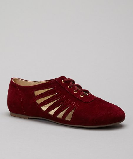 Red Maddy Cutout Shoe