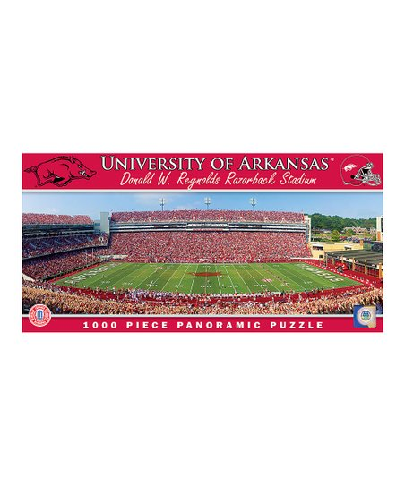 Arkansas Razorbacks Panoramic Stadium Puzzle