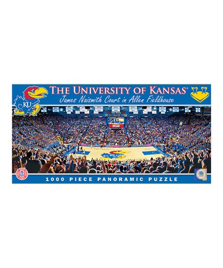 Kansas Jayhawks Basketball Panoramic Basketball Arena Puzzle