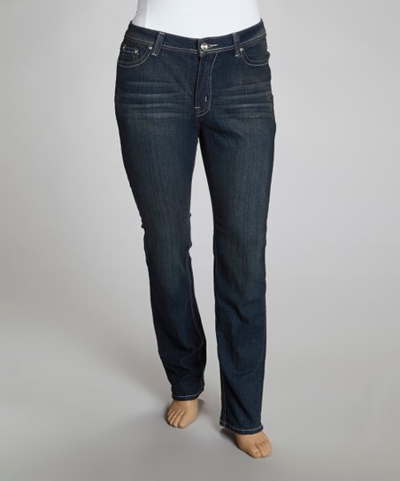 Dark Blue Chandelier Bootcut Jeans - Plus