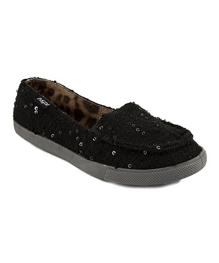 Black Sequin Pesky Pup Shoe