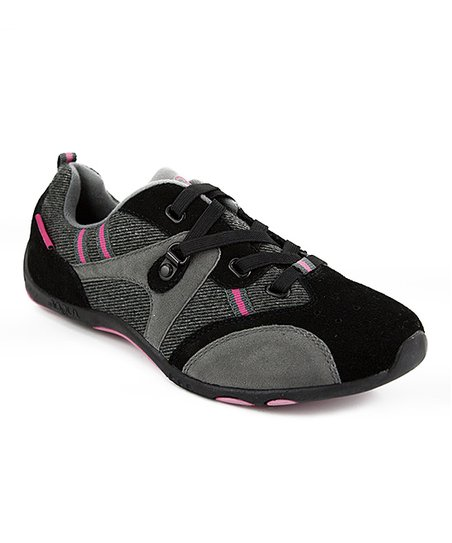 Black & Pink Ravinn Slip-On Sneaker