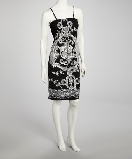 Black Shirred Rococo Dress - Women