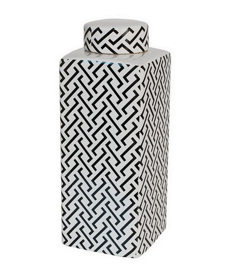 Black & White Geometric Jar