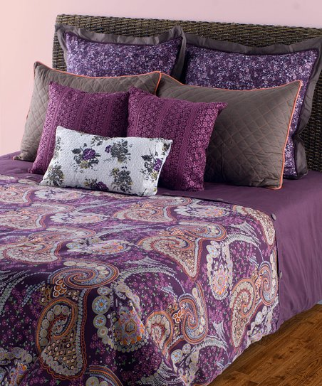 Purple & Gray Duvet Set