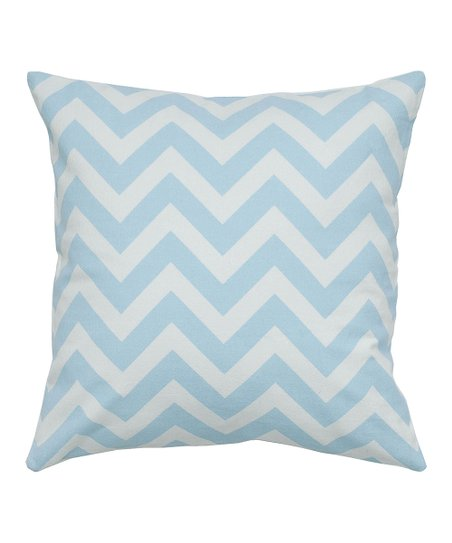 Light Blue & White Zigzag Pillow Cover & Insert