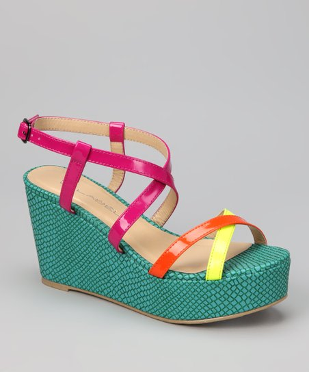 Neon Yellow Bottega-8 Sandal