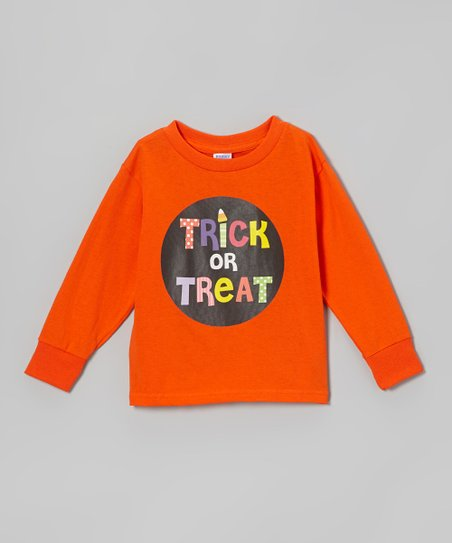 Orange 'Trick or Treat' Tee - Toddler & Kids