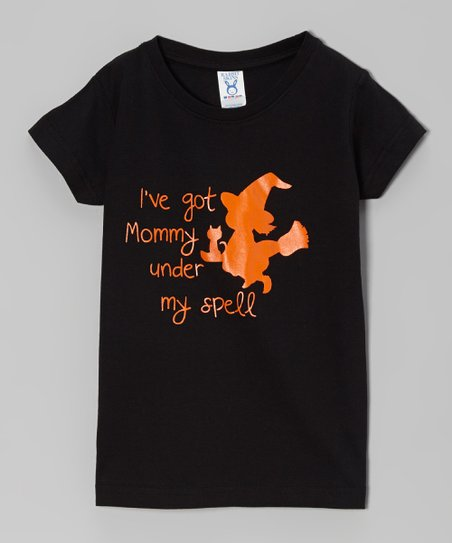 Black 'Mommy Spell' Tee - Infant, Toddler & Girls