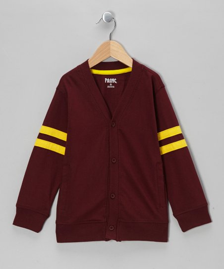 Maroon Varsity Cardigan - Toddler & Boys