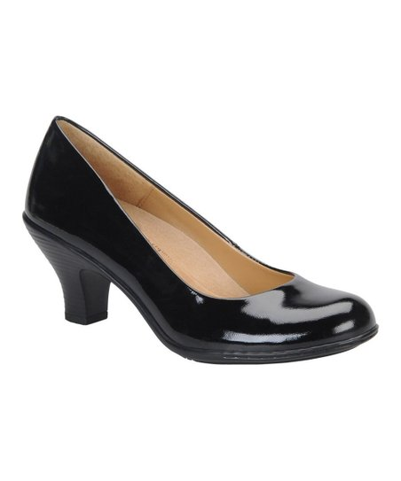 Black Patent Salude Pump