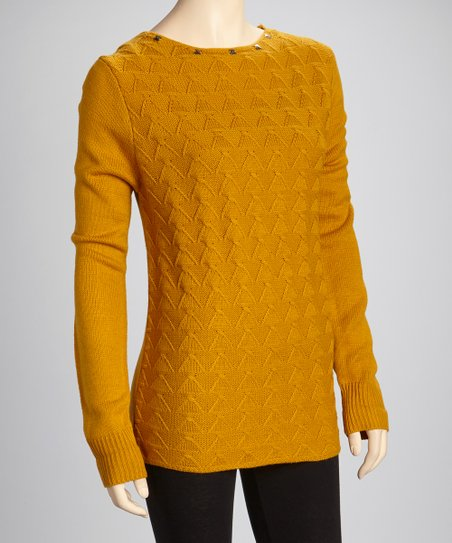 Mustard Studded Sweater