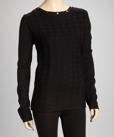 Black Studded Sweater