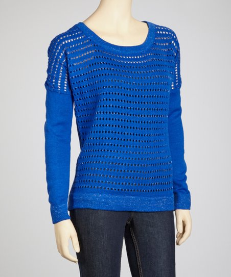 Royal Blue Perforated Sweater