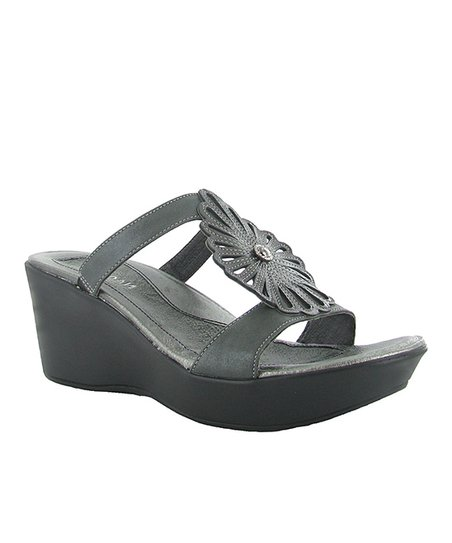 Metallic Road & Gray Fancy Slide - Women
