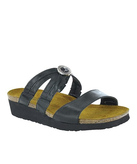 Black Madras Celine Slide - Women