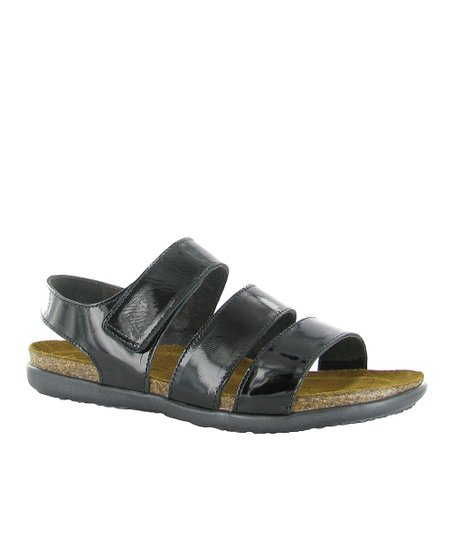 Black Patent Laura Sandal - Women