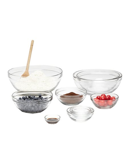 10-Piece Nested Glass Mixing Bowl Set