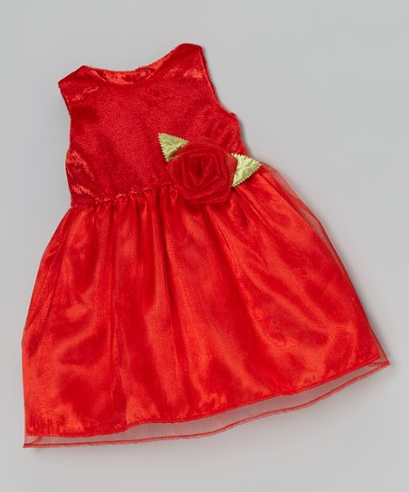 Red Rose Doll Dress
