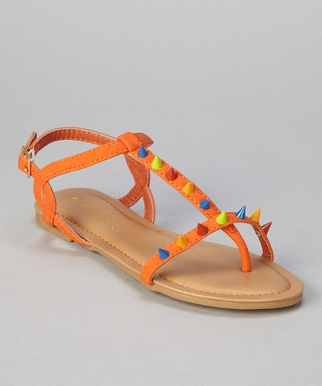 Orange Cone Bear Sandal