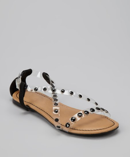 Black Crisscross Bear Sandal