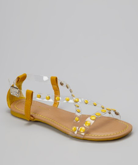 Yellow Crisscross Bear Sandal