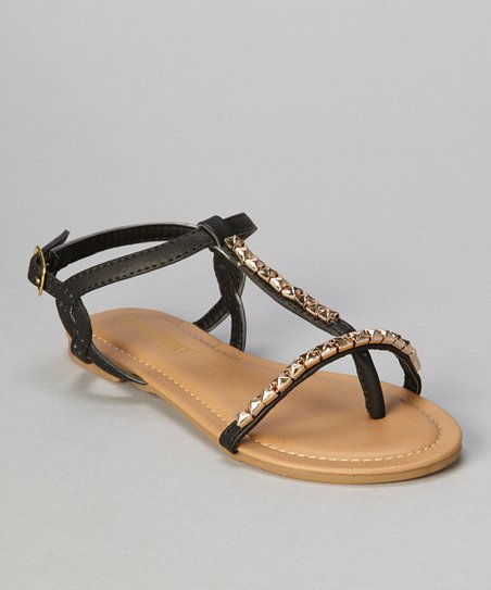 Black Stud Bear Sandal