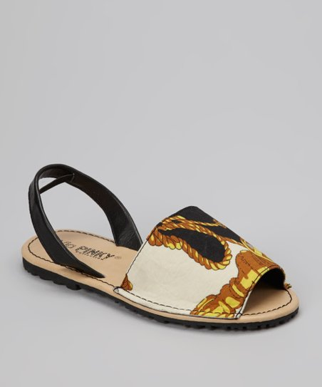 Black Medallion Earth Slingback