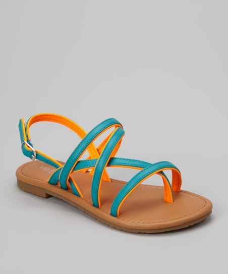 Orange Two-Tone Ellie Sandal