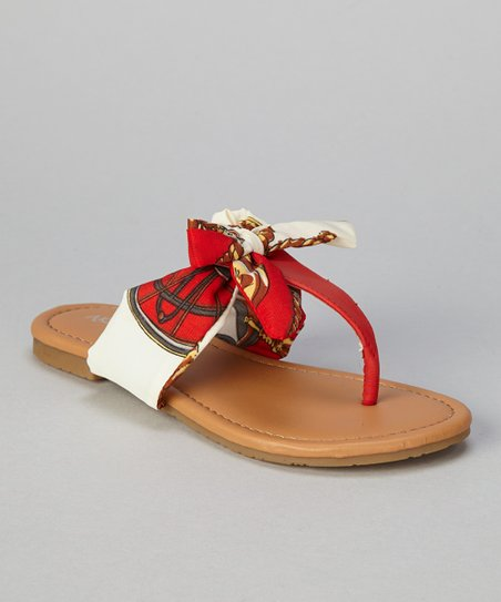 Red Bow Ellie Sandal