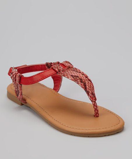Red Snake Ellie Sandal