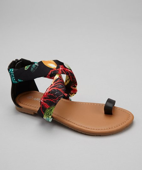 Black Under the Sea Ellie Sandal