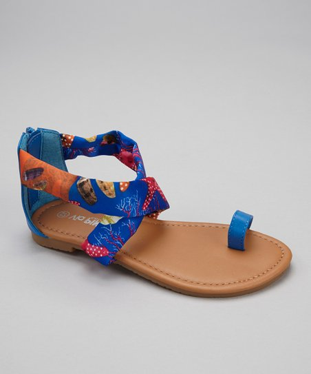 Blue Under the Sea Ellie Sandal