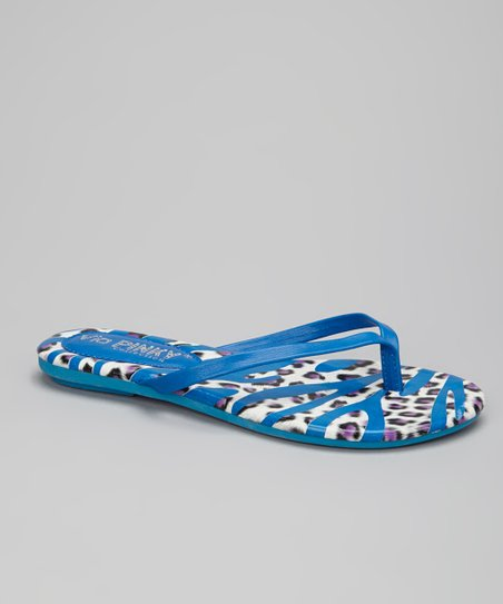 Blue Safari Stripe Flip-Flop