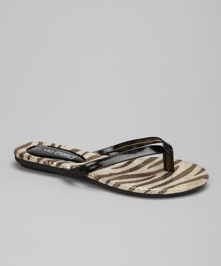 Black Stripe Flip-Flop