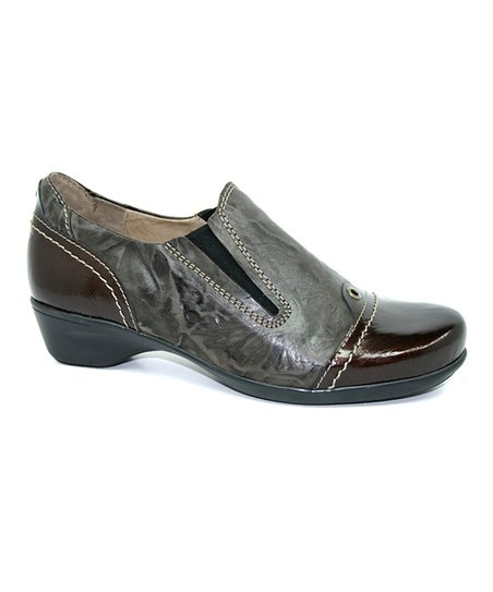 Brown Leather & Patent Tasmin Shoe