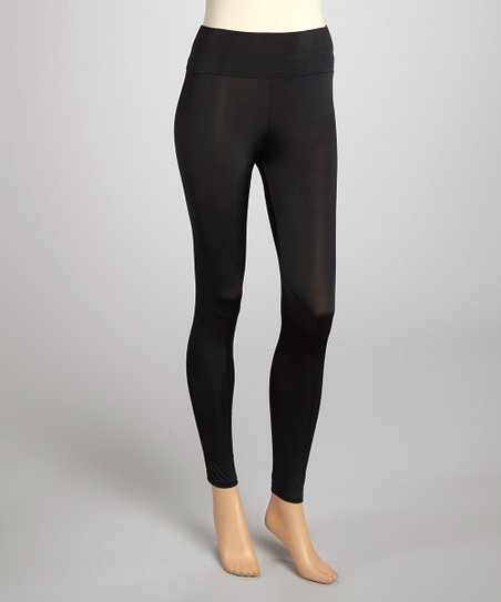 Black Wide-Band Leggings
