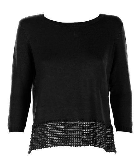 Black Knit Emily Top