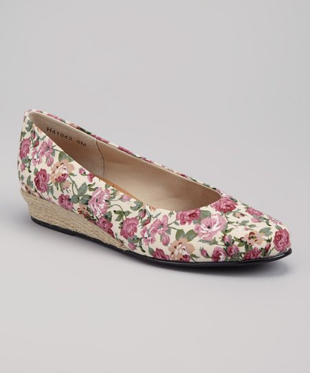 Rose Floral Empire Wedge