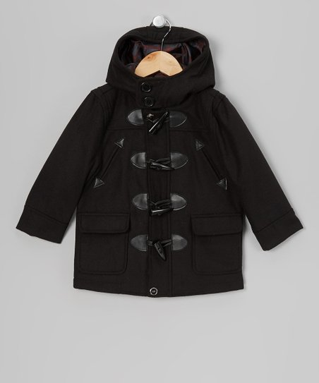 Black Toggle Jacket - Toddler & Boys