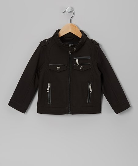Black Moto Jacket - Boys