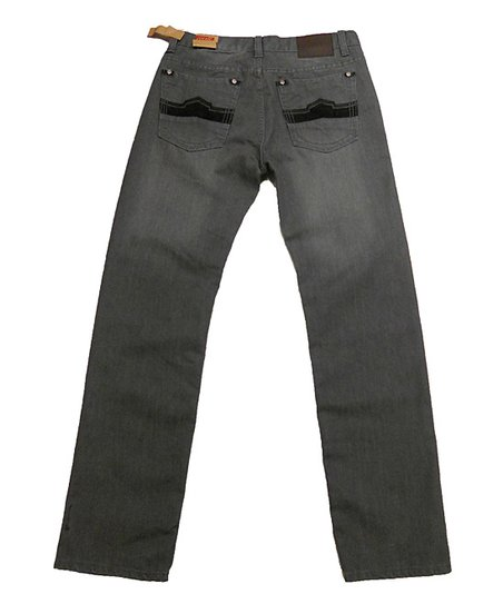 Gray Straight-Leg Jeans - Boys