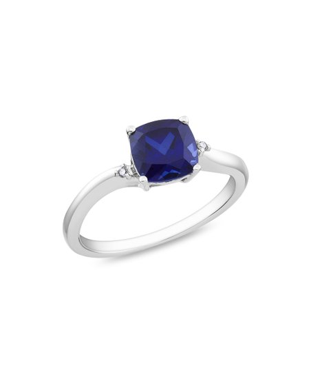 Sapphire & Diamond Cushion Ring