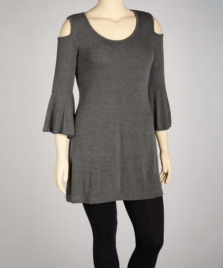 Charcoal Cutout Tunic - Plus
